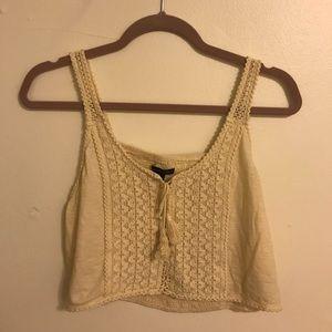 American Eagle Crochet Crop Tank